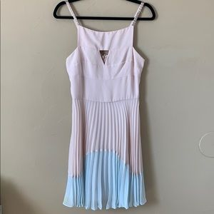 French Connection micro pleated dress Easter ready